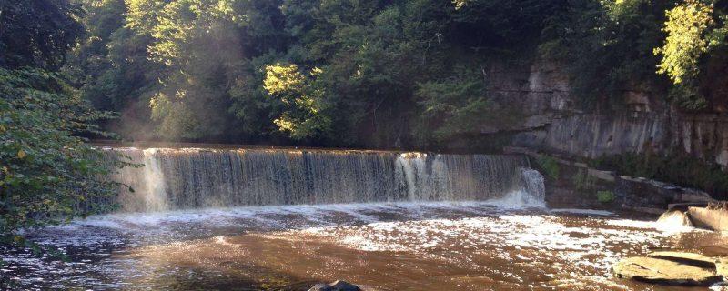 Waterfall in the area of Cramond, Edinburgh