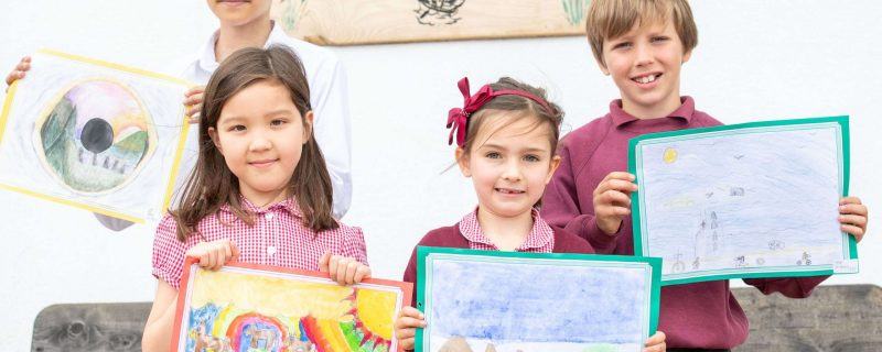 Cramond Residence art competition with primary school