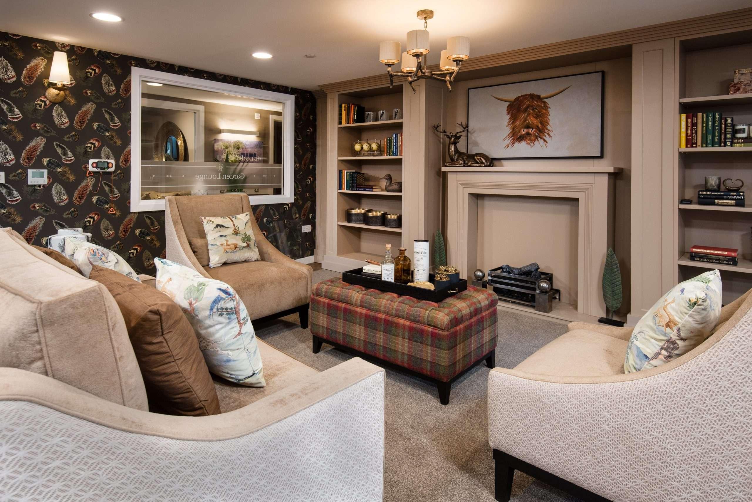 Luxury lounge at Cramond Residence