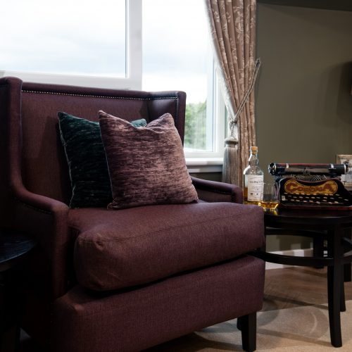 Lounge seating at Edinburgh care home