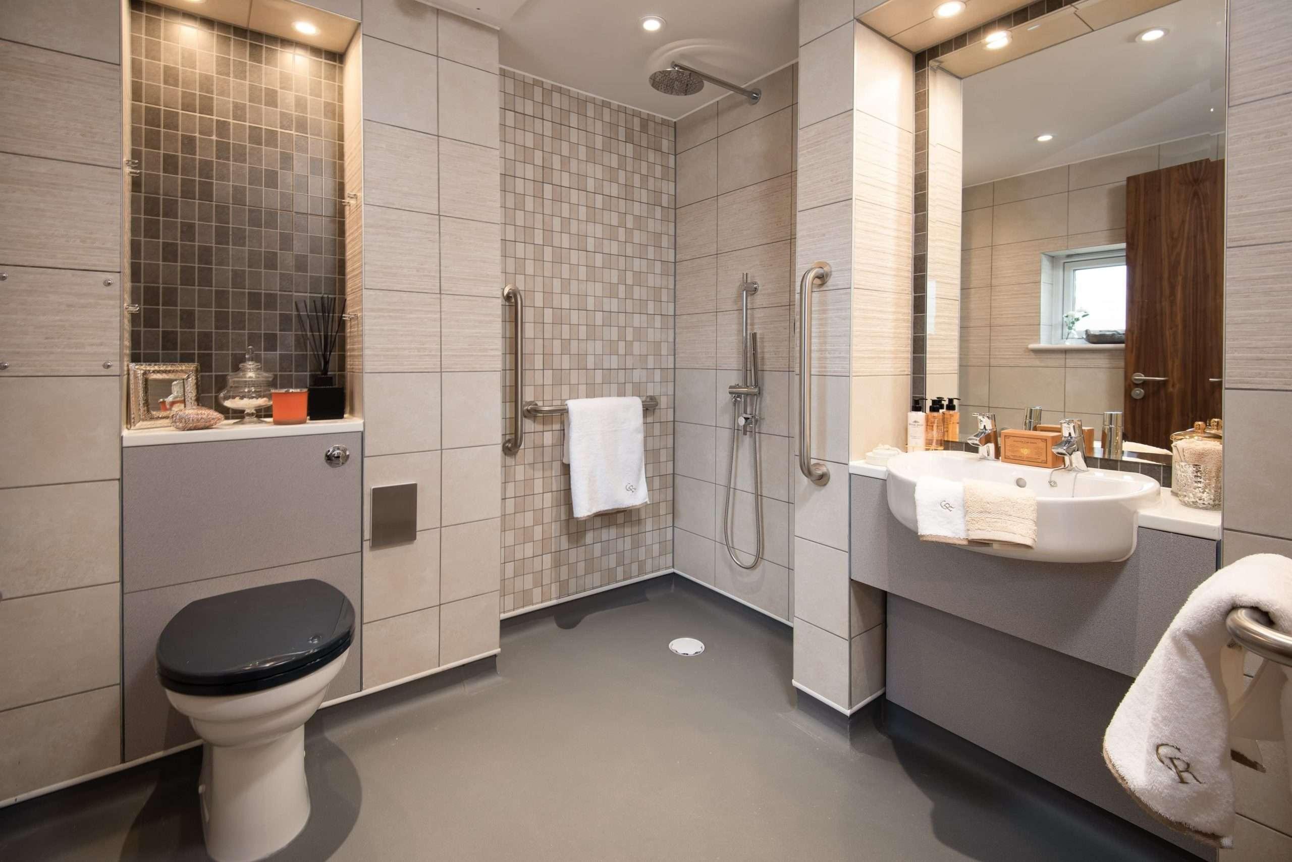 Ensuite bathroom with wet room