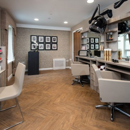 Hair and beauty salon at care home