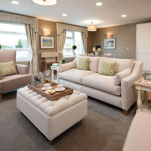 Lounge area at Edinburgh care home