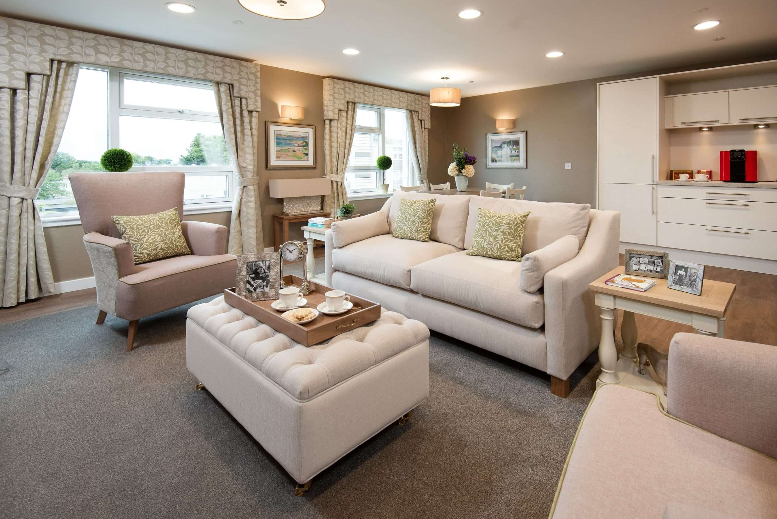 Lounge area at Edinburgh care home
