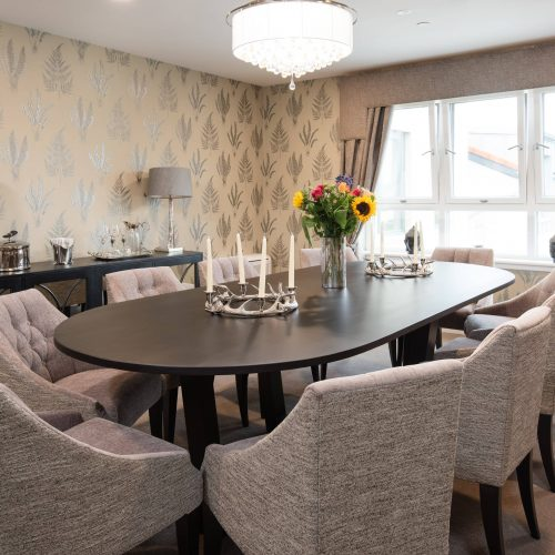 Private dining room at care home in Edinburgh