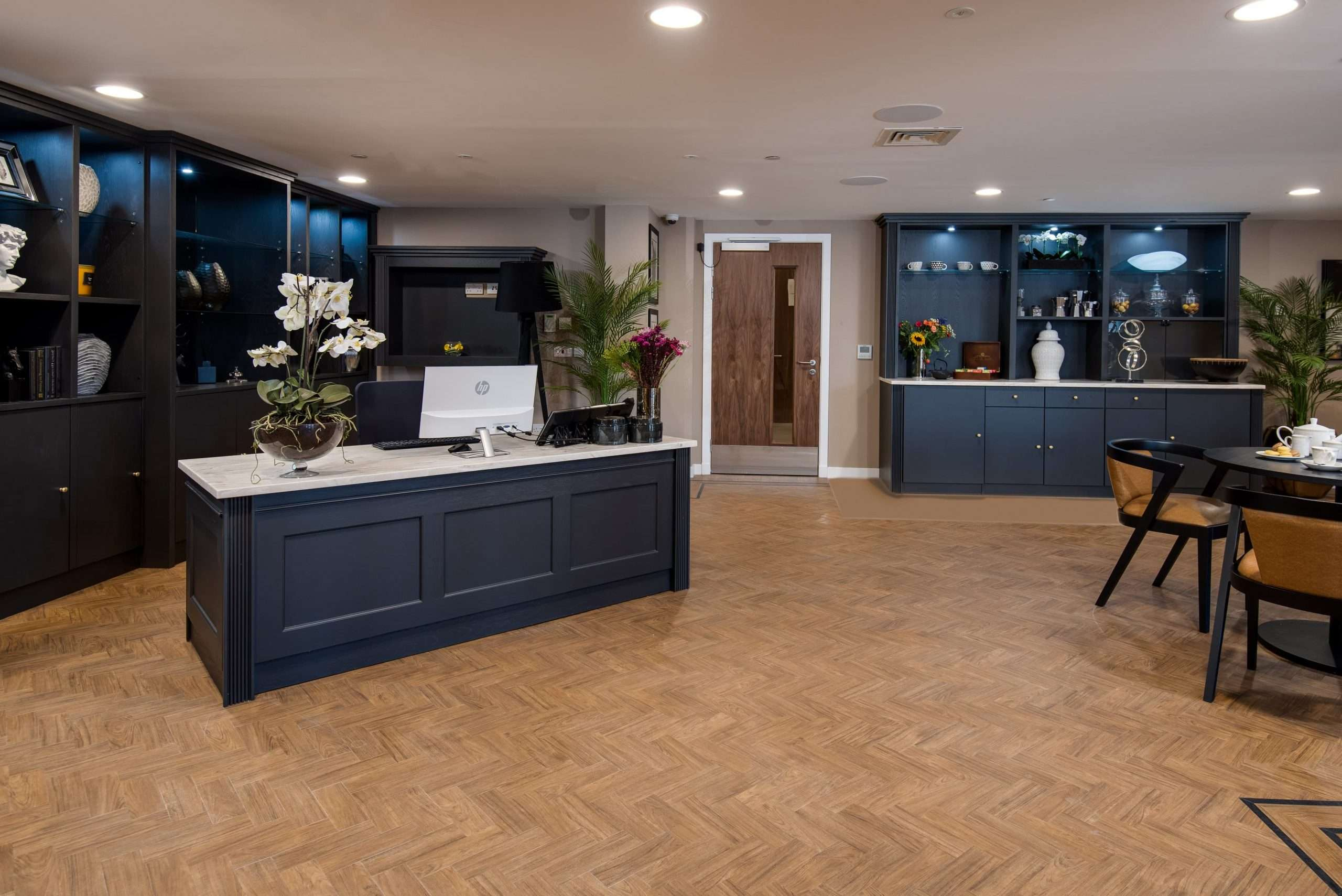 Reception area at Cramond Residence