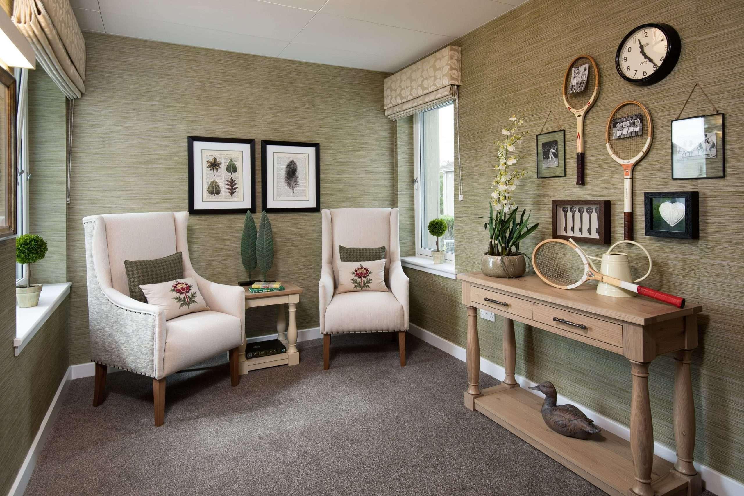 Snug seating area with Cluny interior design
