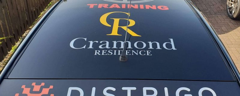 cramond residence logo on car roof