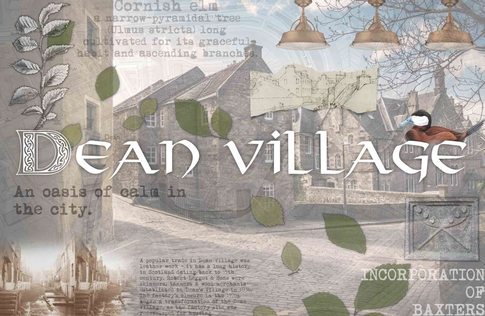 Dean Village Edinburgh Luxury Care Home themed room mood board