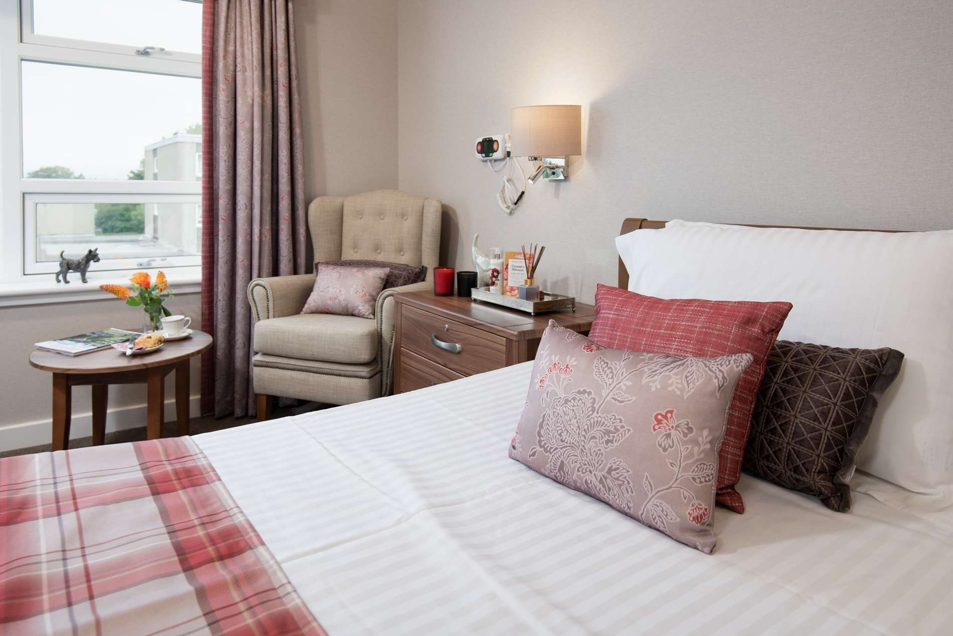 Edinburgh-Care home luxury bedroom inside