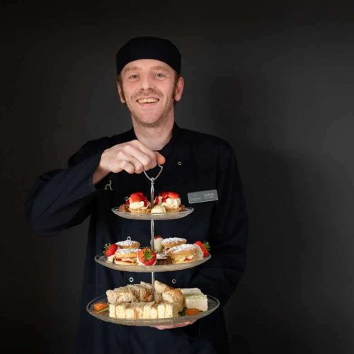 luxury afternoon tea served in an edinburgh care home