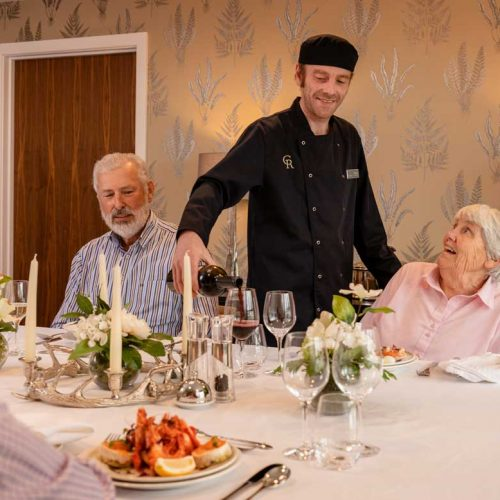 luxury-dining-for-residients-in-Edinburgh-Care-home,-The-Cramomnd-Residence-Edinburgh