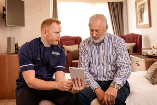 mobile help training for residents of edinburgh care home