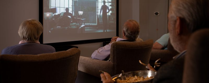 Residents in Cinema room
