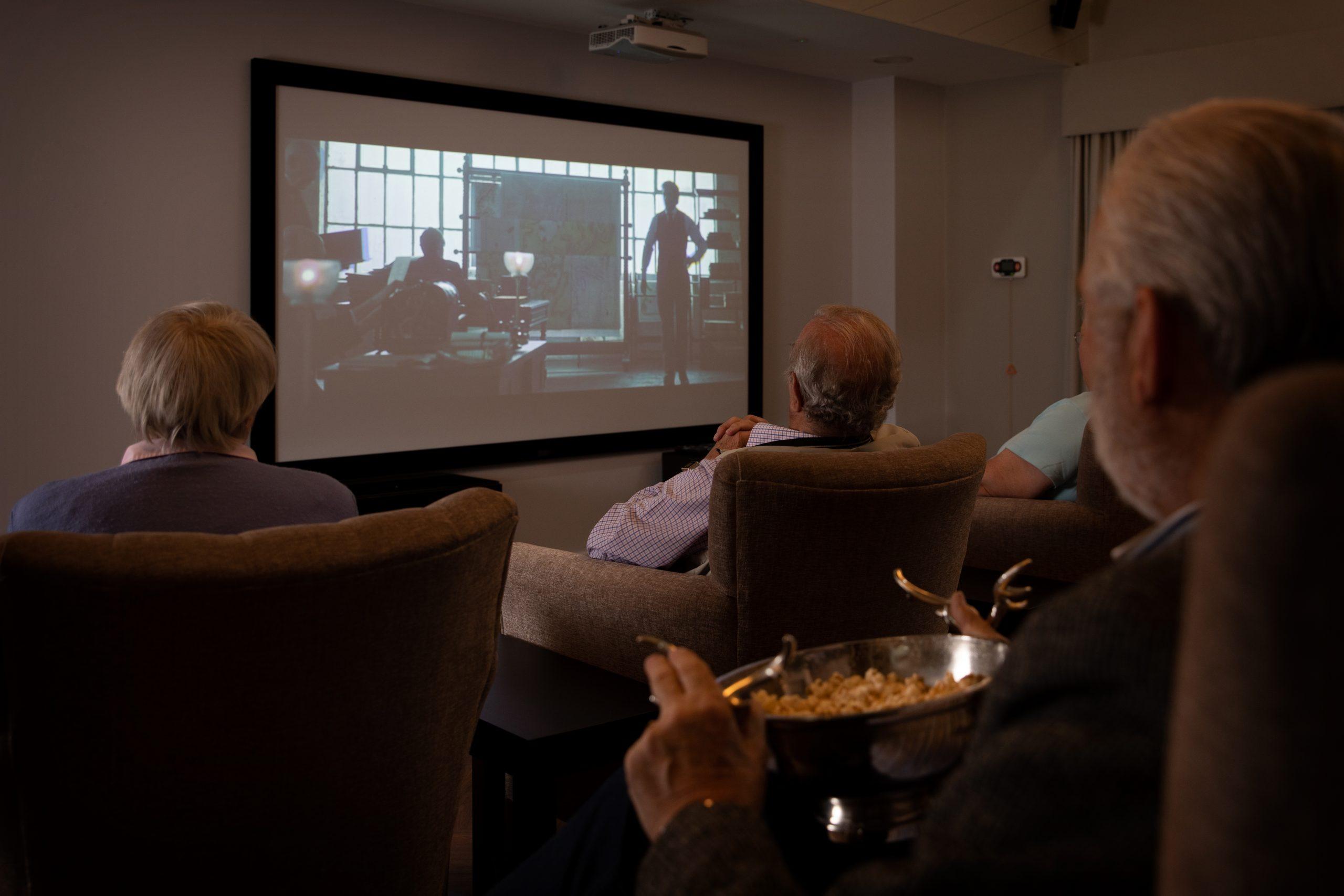 Residents in Cinema room