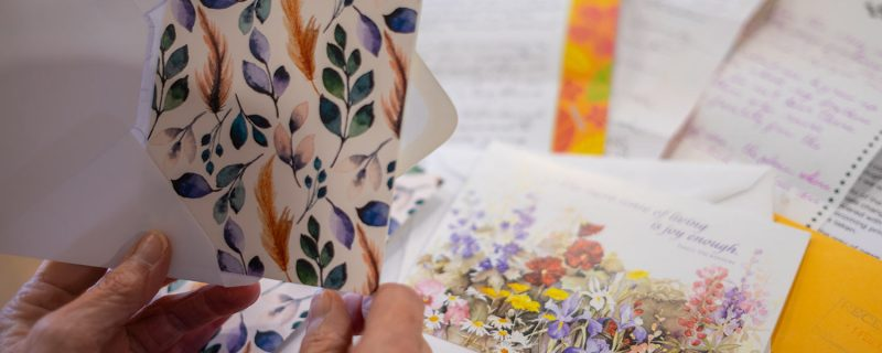Adding a card to an envelope